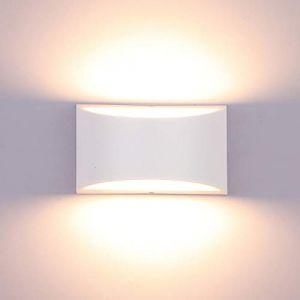 Glighone Applique Murale Intérieur LED Réglable Éclairage Lampe Murales 10W Moderne Luminaire Mural Up Down Appliques Murales en Aluminium Décoratif Lumière pour Chambre Salon Couloir, Blanc Chaud (Lampop, neuf)