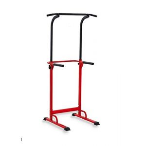 PullUp Fitness Barre de Traction Ajustable Station Musculation Dips Station Chaise Romaine (Rouge) (BusinessImport, neuf)