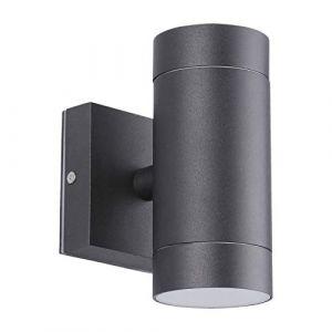 Applique noir extérieur double faisceau GU10 (Cylindrique IP54) (Eclairage Design, neuf)