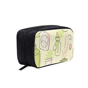 Trousse de maquillage en toile de bande dessinée Produits de soin de la peau mignons Beauté Trousse de toilette transparente pour voyage Trousse de toilette suspendue Grande trousse de toilette d'été (Luoxiaofei, neuf)