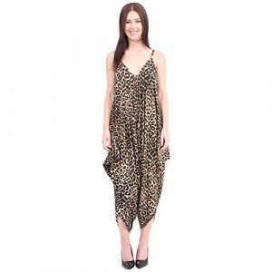 Neuf Femmes Caraco Lagenlook Barboteuse En Vrac Combinaison Sarouel Combinaison Pantalon Grande Taille - Femmes, Léopard, XXL - 48/50 (SPOT ON STYLES, neuf)