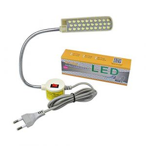 Bonlux LED Machine à Coudre Lampe Col de Cygne 30 Leds avec Base de Montage Magnétique pour Machine à Coudre ou Maison (30 LED) (ProluxEU, neuf)