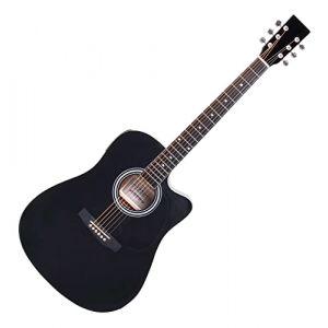 Classic Cantabile WS-10BK-CE Guitare Folk/de Western Noir Avec Microphone (Maison de la musique Kirstein, neuf)