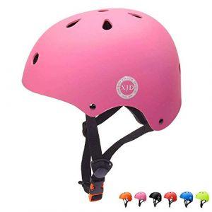 """XJD réglable Casque pour Enfant Kid Casque de vélo pour Multisport BMX Cyclisme Skateboard, XJD-KH104M, Rose, M: 55-57 cm / 21.65""""-22.44 (XJD Store, neuf)"""
