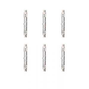 Diall R7s Lot de 6 ampoules halogènes linéaires 2250 lm 120 W 78 mm (GadgetsBlue, neuf)