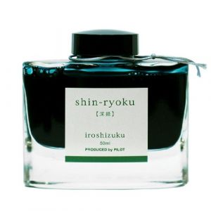 Pilot Iroshizuku Fountain Pen Ink - 50 ml Bottle - Shin-ryoku Deep Green (Deep Green) (japan import) (Stilo e Stile, neuf)