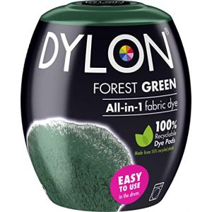 Dylon Teinture Textile pour Machine à Laver, Vert forêt, 8.5 x 8.5 x 9.9 cm (The Quilted Bear Ltd, neuf)