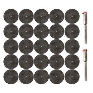 Lot de 25 disques à tronçonner - 32 mm - avec 2 mandrins pour Dremel, Proxxon, etc. (321kontor, neuf)