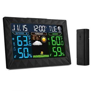 iLifeSmart Station Météo sans Fil, Digital Thermomètre Hygromètre avec Capteur Intérieur/Extérieur, Thermomètre d'humiditépour Maison/Cuisine / Bureau (iLifeSmart FR, neuf)