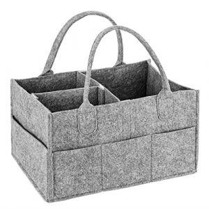 Bébé Diaper Caddy, MaidMAX Panier de Rangement pour Bébé, Organiseur Chambre Bébé, Rangement pour Nurserie, Range Couches Bébé, Liste de Naissance, Table à Langer, Panier Cadeau pour Fille et Garçon (MaidMaxDirect, neuf)
