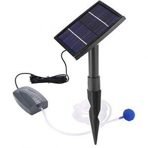 GOTOP Kit de Pompe à Eau à énergie Solaire, aérateur d'oxygène à Pierre à air Solaire pour Bassin de Jardin (Cusco-eu, neuf)