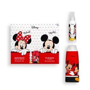 Kit enfant Disney Mickey & Minnie contient de l'eau de toilette 100 ml et gel douche 300 ml (E11 Store, neuf)