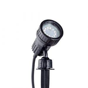 B.K. Licht spot extérieur avec ampoule LED 3W GU10, spot orientable IP44 avec piquet, applique murale extérieure, 2 filtres de couleur, éclairage jardin terrasse chemin, lumière blanche chaude, 230V (B.K.Licht, neuf)