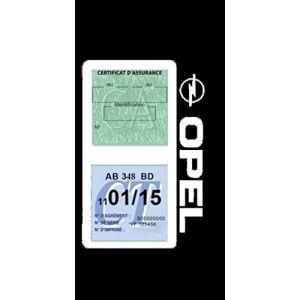 Générique Étui Double Assurance Opel Blanc Porte Vignette adhésif Voiture Stickers Auto Retro (Stickers-auto-retro, neuf)
