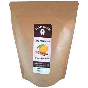 Hop Café - Café en Dosette Souple pour Senseo - Aromatisé Orange Cannelle - 18 dosettes (HOP CAFE, neuf)