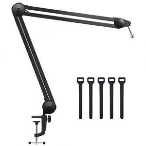 InnoGear Grand Support à bras pour microphone avec clip réglable, bras de support pour Blue Snowball, Blue Snowball iCE, Blue Yeti, Blue Yeti Pro, Blue Yeti Nano, idéal pour studio (InnoDirect, neuf)