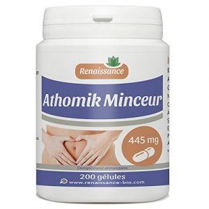 Athomik Minceur - 445 mg - 200 gélules de plantes, Guarana, Nopal, Konjac... (123PLANTES, neuf)