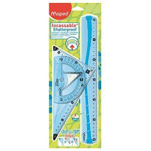 Maped Kit de traçage géométrie incassable - modele aleatoire bleu ou vert (SP-OFFICE, neuf)