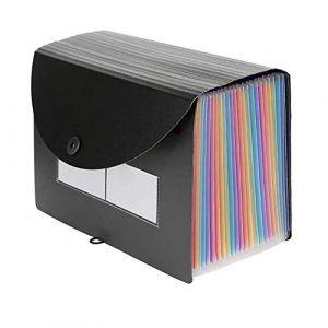 Trieur A4 Classeur expansible SUNSHINETEK A4 Classeur de documents portable Titulaire de fichier accordéon Boîtes de classement Trieur Papiers Organiseur (24 pochettes avec couvercle extensible) (SUNSHINE TECHNOLOGY CO.,LIMITED, neuf)