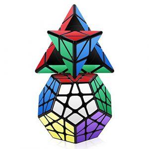 ROXENDA Jeu de Cubes de Vitesse, Cube Magique Jeu de Cubes de Pyramide Megaminx Cube Cube de pentagone Lisse (HURDILEN, neuf)