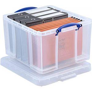 Really Useful Réf 42L Boîte à archives solide et légère Plastique Superposable 42 litres Transparent 440 x 520 x 310 mm (Import Royaume Uni) (ALPEXE France, neuf)