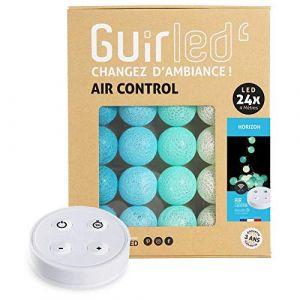 Guirlande lumineuse boules coton LED USB - Télécommande sans fil - Chargeur double USB 2A inclus - 4 intensités - 24 boules - Horizon (Lighting Arena, neuf)