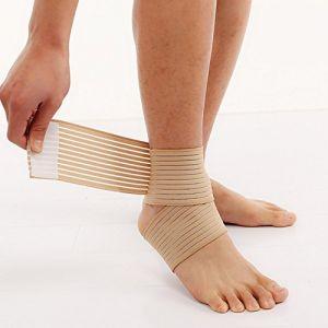 Tendinite Talon d'Achille Gonflé Inflammation - Bande Cheville Strapping Chevillère - Douleurs et Blessure Rupture (Bande élastique PEAU) (Elastrap, neuf)