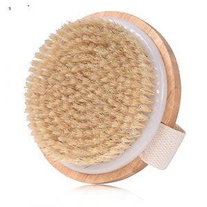 xjdfos Brosse pour le corps Vente chaude Brosse de bain pour le corps Brosse de massage pour le corps en bois de douche en bois Soies Douche Nettoyant pour la douche en brosse de bain, Argent (shengnan893, neuf)