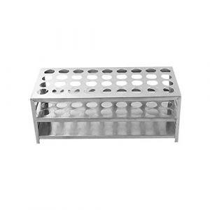 Porte-Tubes en Aluminium, ?15.5mm×36 Positions Support Tubes à Essai, Porte-Éprouvettes de Laboratoire (XRICH, neuf)