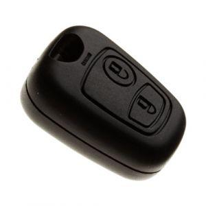 Coque de clé de voiture plip sans lame et sans vis pour Citroen Xsara Picasso, Berlingo, Saxo et Peugeot Partner avec Pile Maxell CR2016 (Jongoshop, neuf)