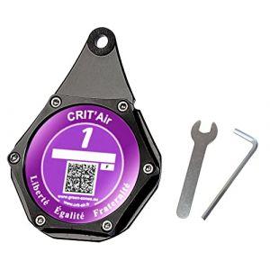 Ugozen Porte Vignette Assurance Moto, Support De Vignette Crit air ou Assurance Etanche Noir pour Moto/Quad/Scooter (JB PROD, neuf)