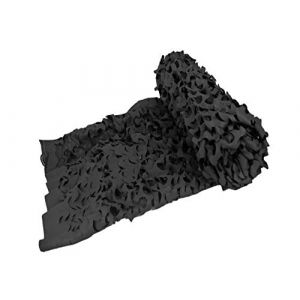 KSS Filet de camouflage -  Brise-vue  – Protection solaire – Protection solaire pour les loisirs, le camping, les bars, la chasse, la camouflage décoratif, Noir , 4x5 M (KSS Sports, neuf)