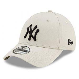New Era 9forty Strapback Casquette MLB Yankees de New York Los Angeles Dodgers Hommes Femmes Casquette Chapeau Bundle avec UD Bandana - NY Pierre #S13, OSFA (One Size Fits All) (urbandreamz, neuf)