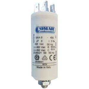 Comar Condensateur pour moteur 8 uF 450 VAC (PIECES CHAUFFAGE, neuf)
