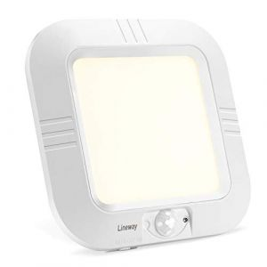 Lineway Plafonnier LED avec Détecteur de Mouvement Piles, Lampe Plafond à Pile sans Fil, 180LM 4000K Plafonnier LED Eclairage Intérieur pour Balcon Sous-sol Atelier Escalier Garde-Manger (Lineway, neuf)