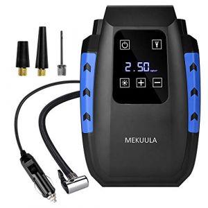 MEKUULA Voiture Compresseur d'Air Portatif Digital 12V 120W,Gonfleur Electrique Compresseur Air Numérique avec Lampe LED,Câble 3M (Beprety, neuf)