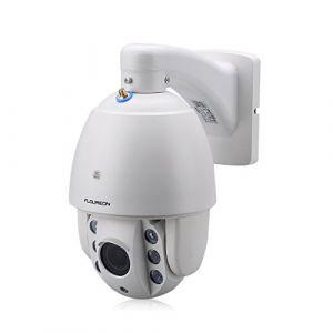 FLOUREON Caméra de Sécurité Sans Fil Caméra IP HD 1080P Etanche PTZ Caméra de Surveillance WiFi Extérieur Zoom 5X Vision Nocturne Détection de Mouvement Grand Angle de Vue ONVIF Vision à Distance (ZLYFR, neuf)