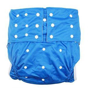 Lukloy pour homme adultes couches en tissu pour incontinence Care Sous-vêtements de protection-Double Ouverture Poche lavable réglable réutilisable Leakfree pour tour de taille Grande taille 65~ 135cm (Shenzhen M-Home, neuf)