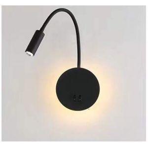 Budbuddy 3+8W LED Lampe de chevet pour lire LED Lampe de lecture de Cygne Flexible (noir) Applique murale Liseuse LED avec interrupteur Blanc chaud 3000K Moderne (mengya -EU, neuf)