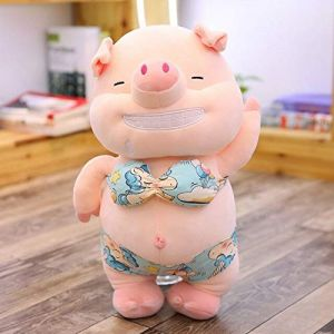 Jouet En Peluche Petit Cochon Sexy, Oreiller De Cochon De Plage En Peluche Animal Mignon, Jouet Pour Poupée, Cadeau D'Anniversaire 45Cm Jaune (lizhaowei531045832, neuf)