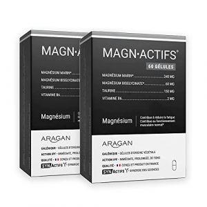 SYNActifs - MAGNActifs Magnésium Marin - Complément alimentaire - Association du magnésium et de la vitamine B6 - Lot de 2 x 60 Gélules (WEBPARA, neuf)