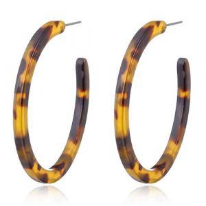 NNGUBIU Acrylique Boucles D'Oreilles Marbrées Léopard Rondes Boucles D'oreilles Femmes Bijoux De Coquillage Tortue (guangtian, neuf)