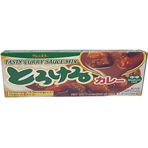 SB Tablette De Curry Japonais Moyennement Epicé, Sauce Mix 1x200g (10xPortions)  - Import Japon (zenmarket, neuf)