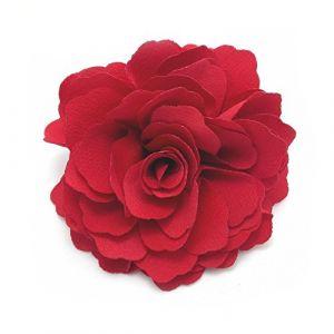 Meilliwish Camélias Une fleur Pince à cheveux Broche (Rouge) (A74) (Meilliwish, neuf)