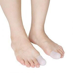 4pcs soulagement orteils couverture tube de protection talons hauts se frottant les orteils pouce protecteur garde silicone embouts gaines douille pour protection (rosmii, neuf)