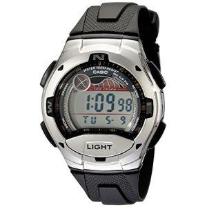 Casio - W-753-1AVCB - Montre Homme - Quartz Digitale - Alarme/Chronomètre/Boussole - Bracelet Caoutchouc Noir (PlanetaReloj, neuf)