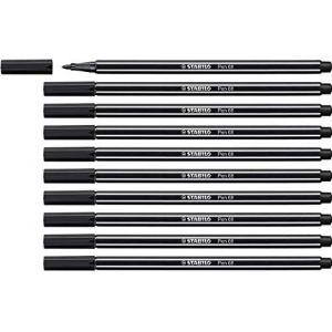 STABILO Lot de 10 Feutres de Dessin PEN 68 Pointe Moyenne 1 mm Noir (OMGHOWCHEAP, neuf)