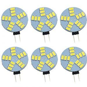 Pocketman Pack de 6 ampoules à LED G4 dimmable, ampoule de projecteur rond G4 DC 12V, 1.5W 240LM, remplacement de l'ampoule halogène 10W, éclairage à 120 °, blanc chaud (MINTOP2018, neuf)
