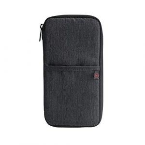 JHYYGDDD Pochette de passeport antivol étanche pour passeport noir Noir (xianshibeilinquhengdadebaihuodian, neuf)
