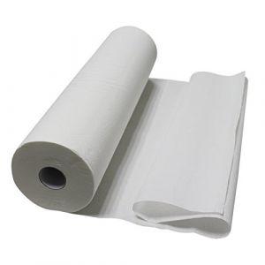 Vivezen ® Lot de 1, 4 ou 9 drap d'examen blanc 50, 60, 70 ou 84 cm - 34g/m2 double épaisseur gaufré 100% pure ouate - Norme CE (EGK Distribution, neuf)